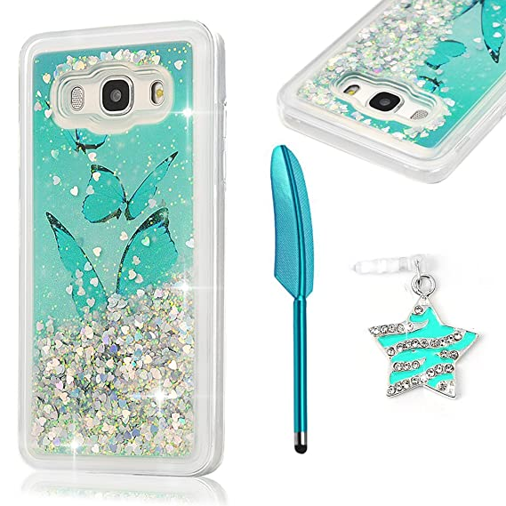promo code fab9d 7f814 Galaxy J5 Prime SM, G570F Case, MOLLYCOOCLE Luxury Bling Glitter Sparkle  Shell 3D Sparkle Glitter Quicksand Cute Star Flowing Liquid Soft TPU Cover  ...