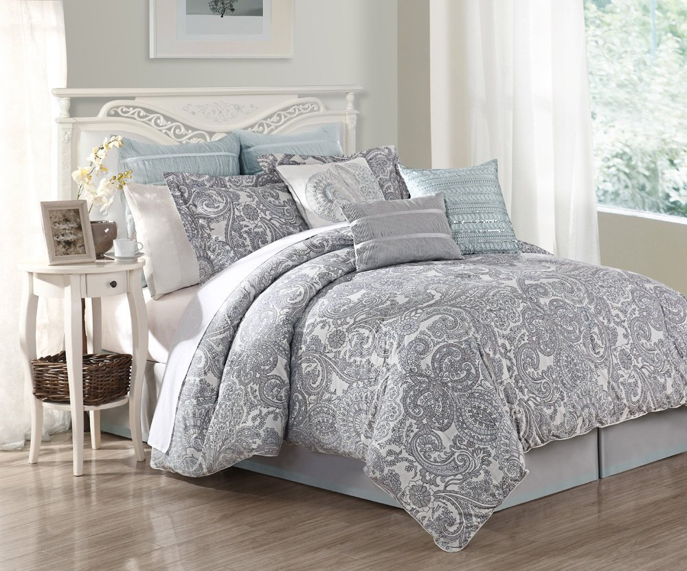 9 Piece Queen Luxe 100% Cotton Comforter Set