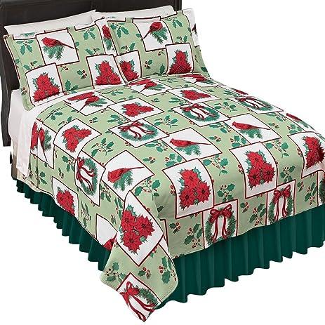 holiday fleece christmas bedding coverlet holiday colors king - Christmas Bedding Holiday Bedding