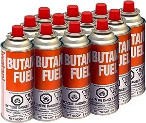 Iwatani BU-6 CassetteFeu???? Butane Fuel Canister for Butane Stove & Torch Refills, 8-Ounce (Set of 12)
