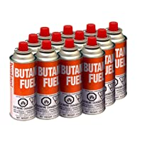 Iwatani BU-6 Butane Fuel Canister, 8-Ounce, Set of 12