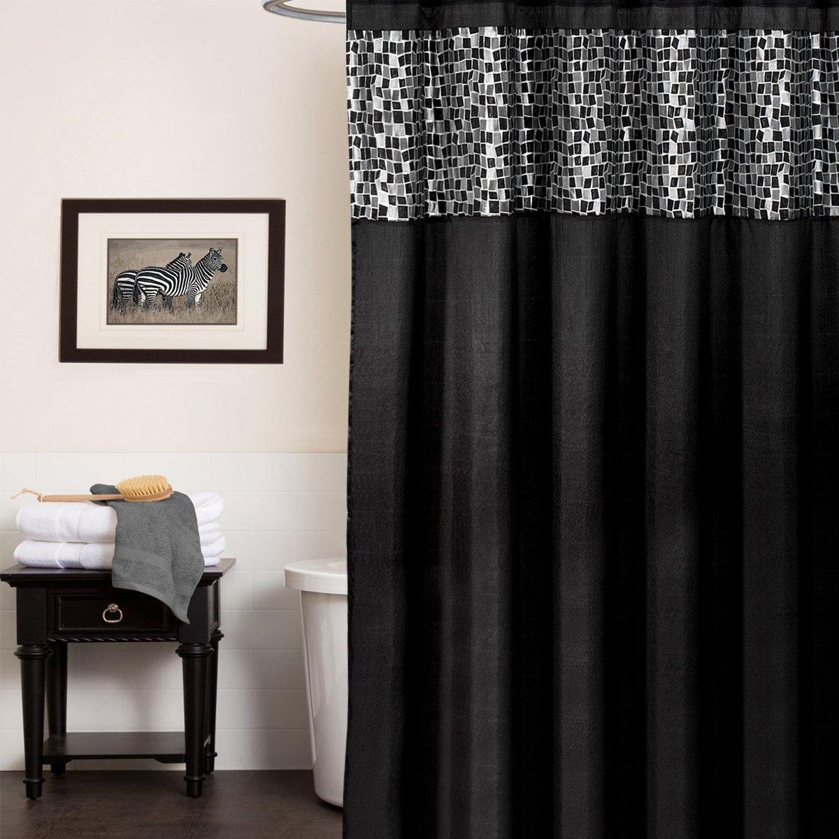 Sinatra silver shower curtain - Sinatra Silver Shower Curtain 39