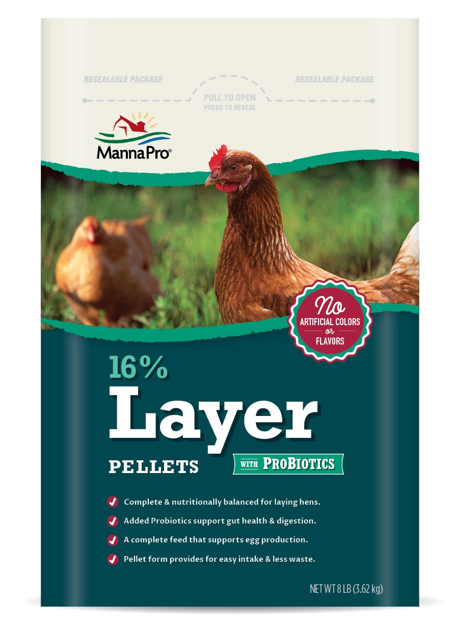 Manna Pro 16-Percent Layer Pellets with Probiotics, 8 lb
