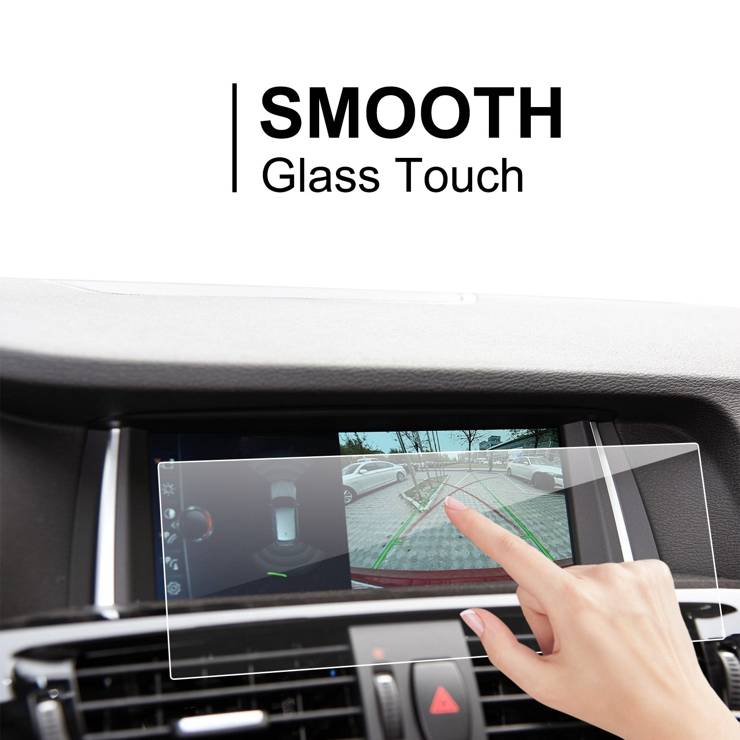 If Applicable/  LiFan 4347653166 LFOTPP Compatible Tempered Glass Navigation Infotainment Center Touch Screen Protector Replacement for BMW X1 X3 X4 X5 X6/ M40i 8.8-Inch Screen