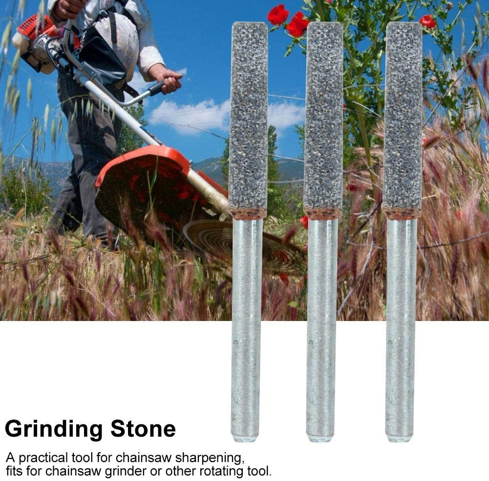 3 Pack TOPINCN 5//32in Diamond Chainsaw Sharpener Burr Stone File Professional Grinding Stone Chainsaws Sharpening Accessory for Rotating Tool