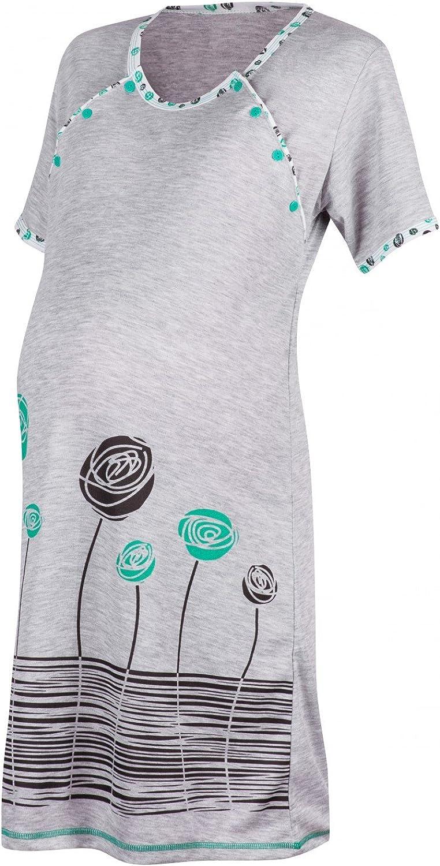 Happy Mama Para Mujer Camis/ón flores premam/á de embarazo y lactancia 135p
