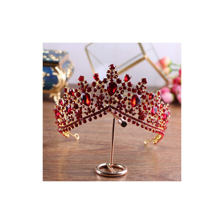 Baroque Red Crystal Bridal...