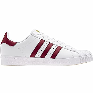 best service 96f3c 66c90 adidas Men s Superstar Vulc Adv Skateboarding Shoes White Size  8 UK