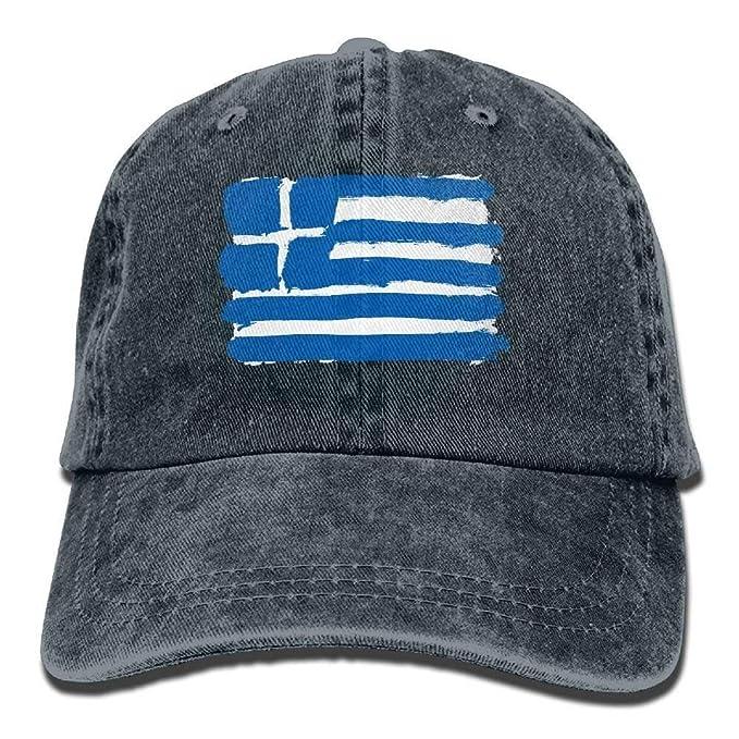 Reghhi Gorras Grandes Bandera de Grecia Sombrero de Mezclilla ...