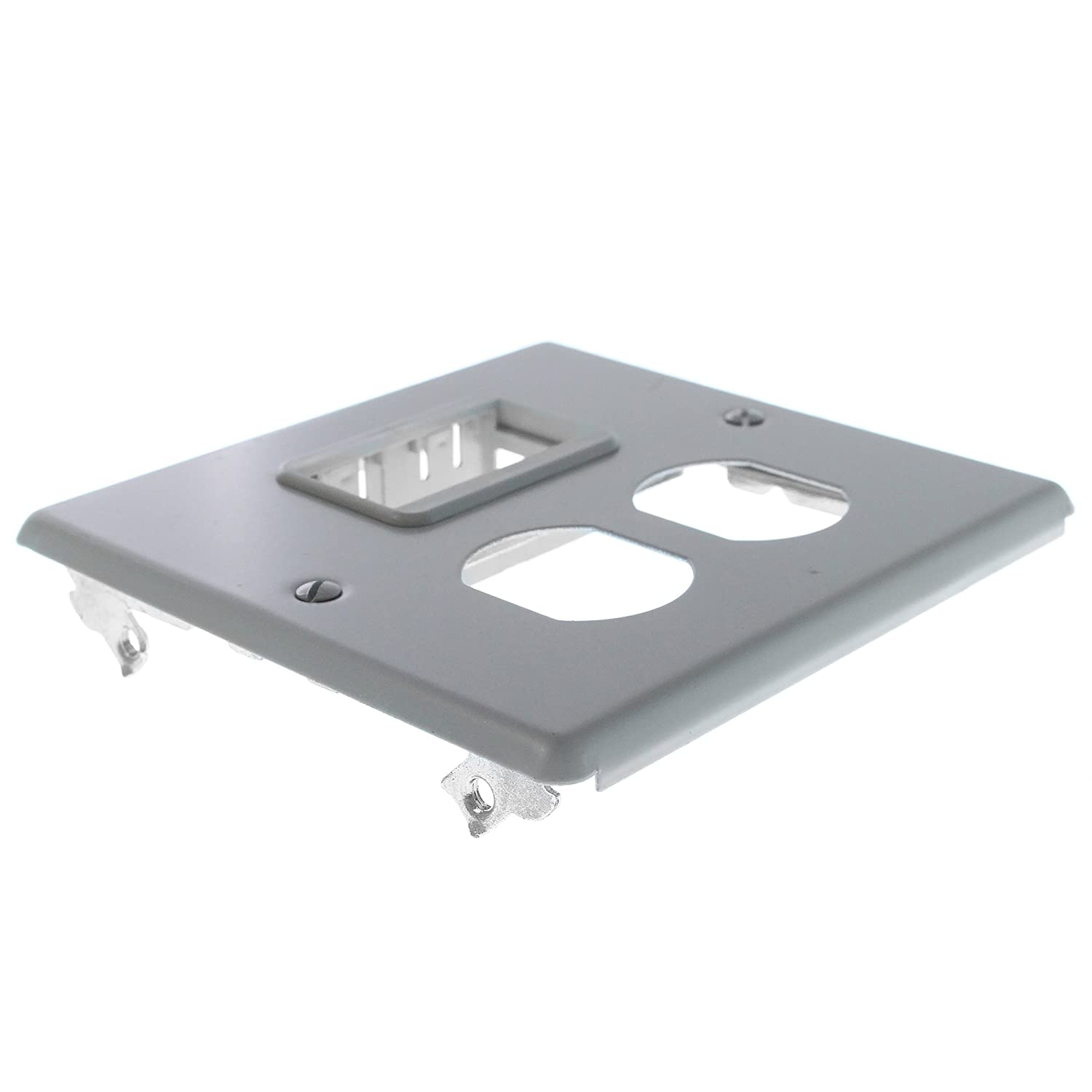 Amazon.com: Wiremold G4047Bs 2 Gang Gray Cover Plate 4000 Series ...