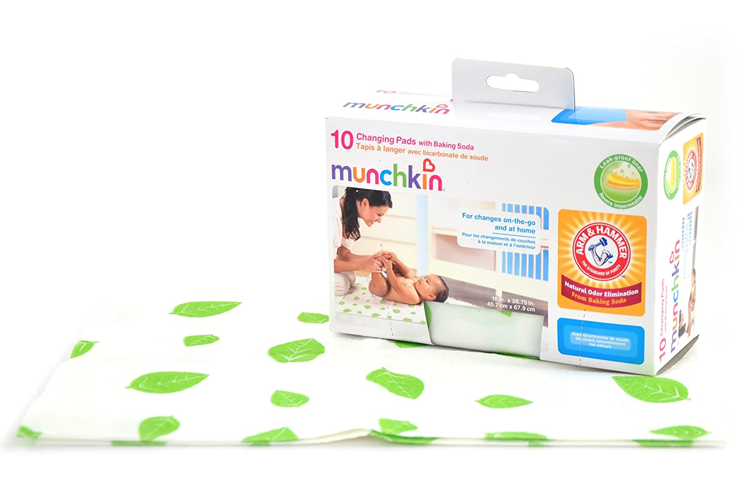 Munchkin 11283 A and H Disposable Changing Pad, 10 Pack