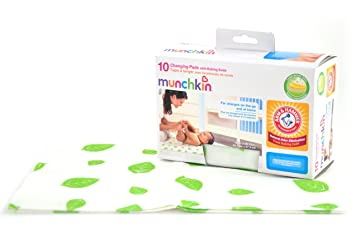 Merveilleux Munchkin Arm And Hammer Disposable Changing Pad, 10 Count
