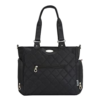 1dd198f224a1 Amazon.com   SoHo diaper bag Tribeca 9 pieces nappy tote bag for baby mom  dad stylish insulated unisex multifunction travel large capacity durable  includes ...