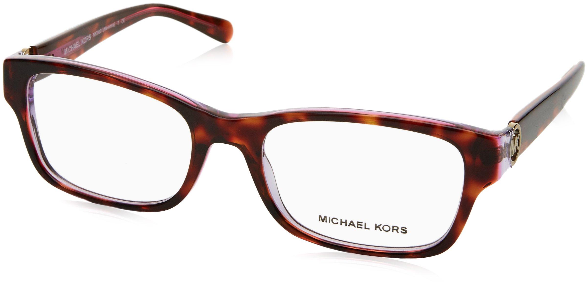 Michael Kors RAVENNA MK8001 Eyeglass Frames 3003-53 - Tortoise/Pink/Purple MK8001-3003-53