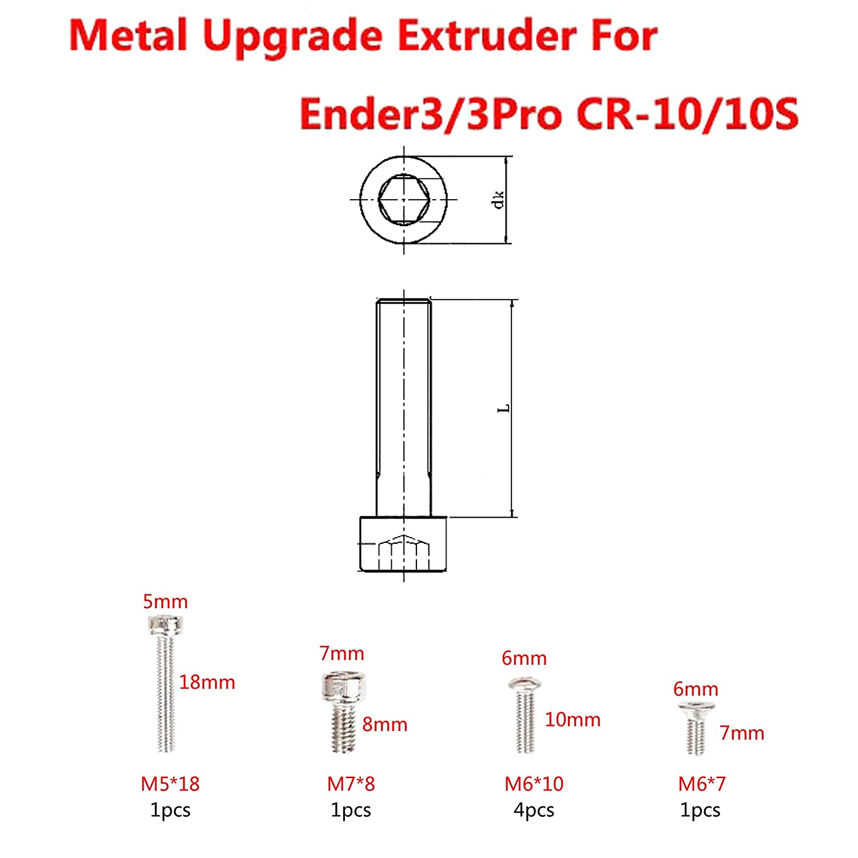Unidad extrusora de alimentación, aluminio MK8, repuesto, para ...