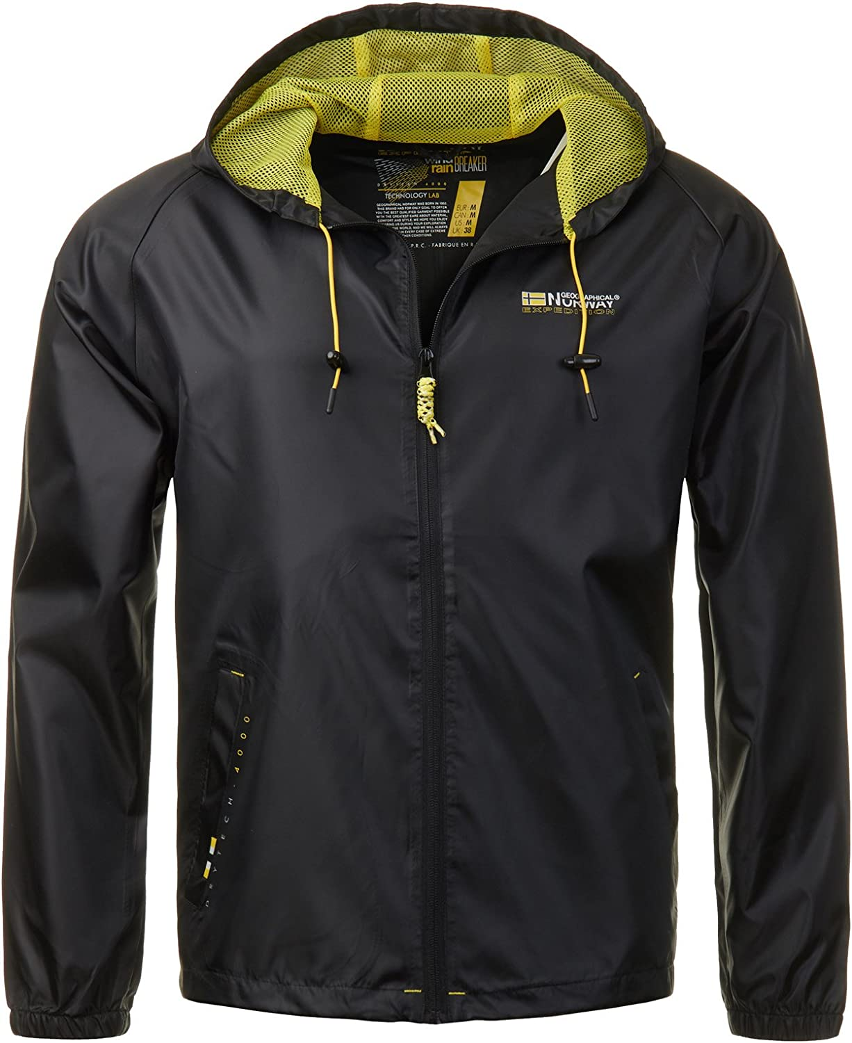 Geographical Norway Giacca da Uomo uebergangs Wind Breaker Outdoor Giacca a Vento