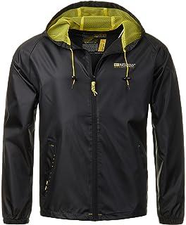 Geographical Norway Techno Chaqueta flexible para hombre con capucha desmontable gris oscuro XXL