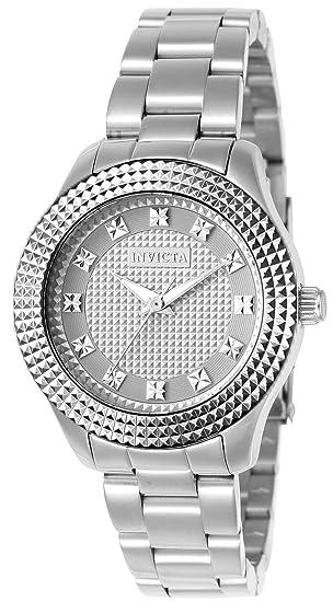 Invicta 22877 Angel Reloj para Mujer acero inoxidable Cuarzo Esfera plata