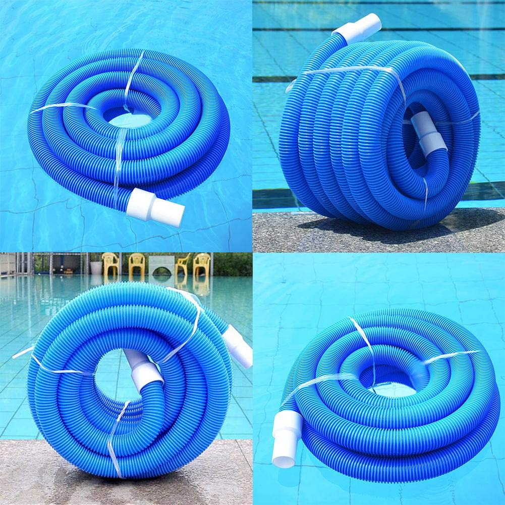 lennonsi Spiral Hose Swimming Pool Vacuum Hose With Swivel Cuff 1.5 Inch Swimming Pool Double Layer Suction Pipe