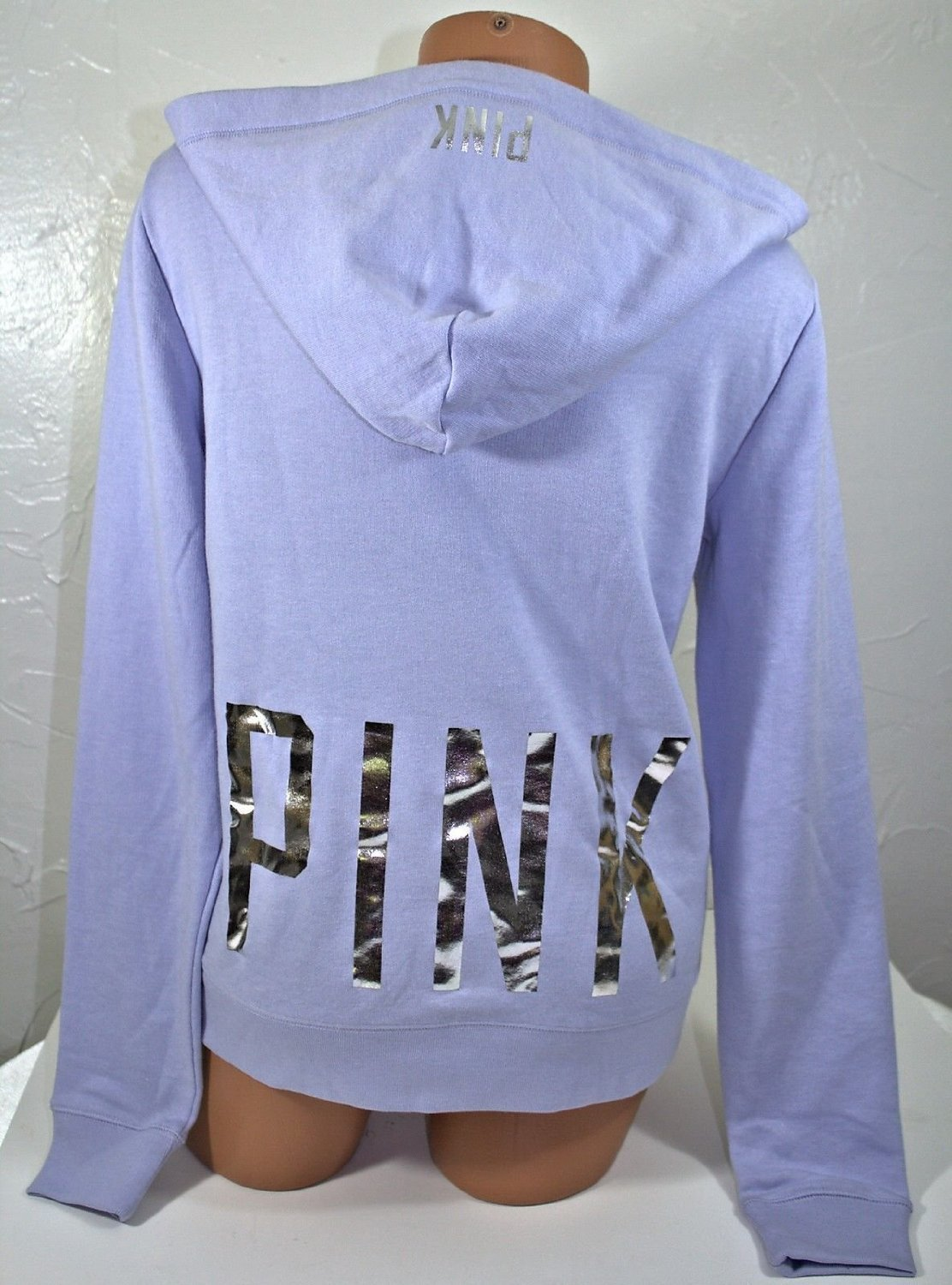 Victoria's Secret Pink Lavender Bling Sequins Perfect Zip Jacket Hoodie Extra Small XS by Victoria's Secret