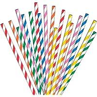 Papierrietjes 200 Veelkleurig Geweldig voor Cocktails, Koude Dranken & Sappen Geschikt voor Feesten, Bruiloften & Alle…
