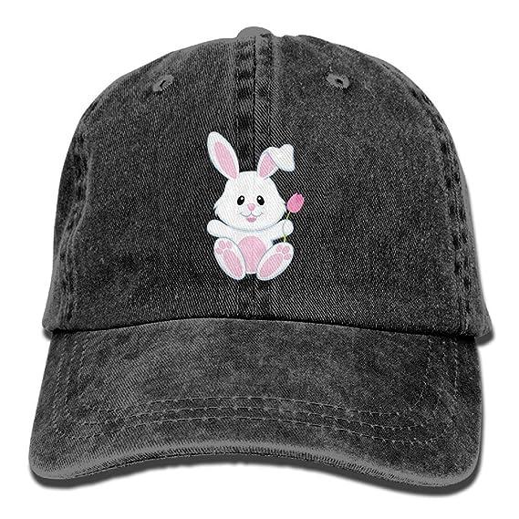 78067dee8f897 Amidifgy Small White Bunny Printing Cowboy Hat Adjustable Baseball Cap for  Men and Women at Amazon Men s Clothing store