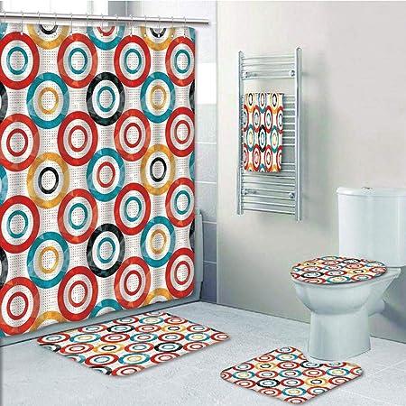 Juego de 5 piezas de cortina de ducha con impresión 3D, decoración ...