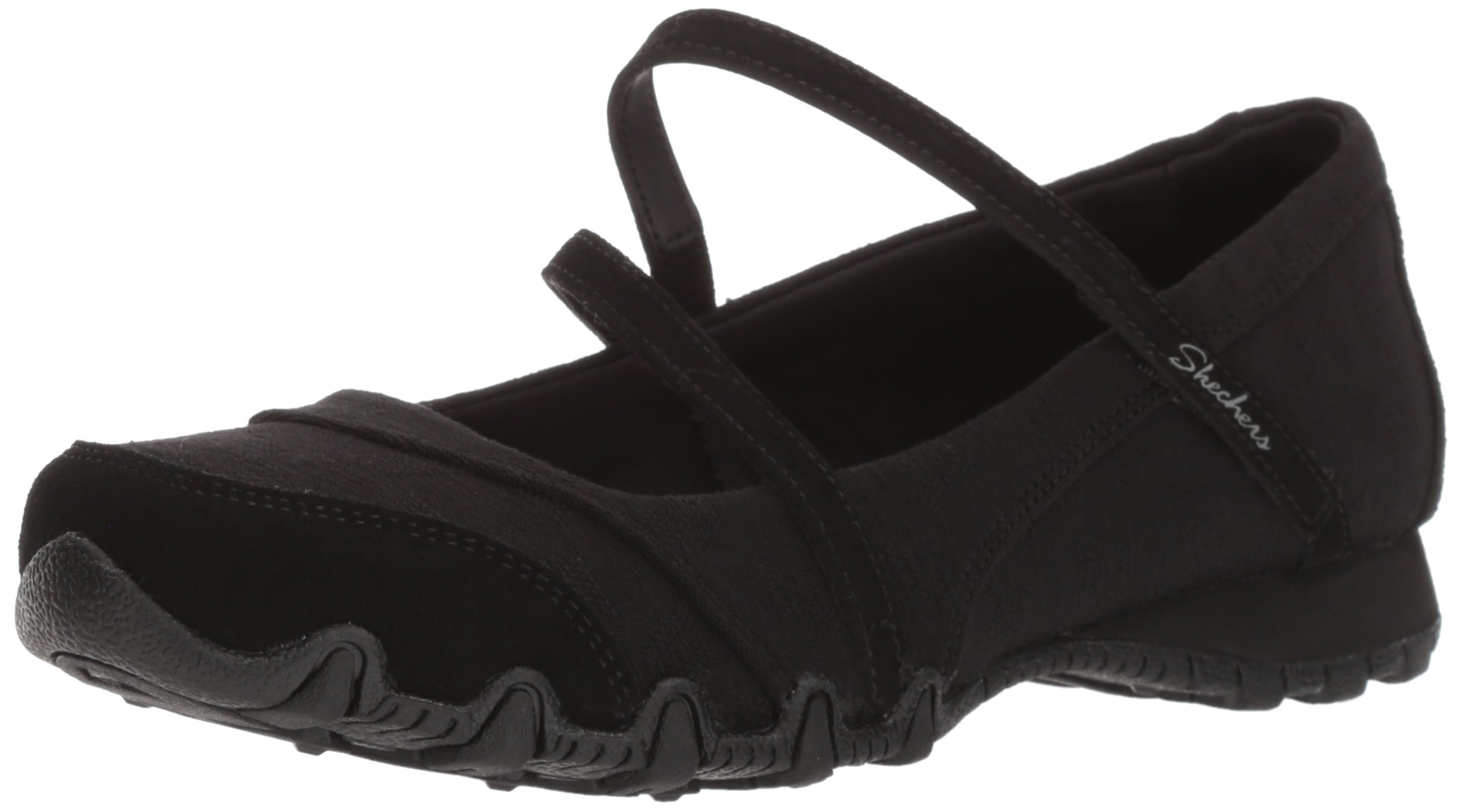 Skechers Women's Bikers -Fiesta Mary Jane Flat,7 M US,Black by Skechers (Image #1)