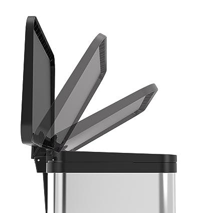 Metal Weiss Hailo /Öko Duo Plus 22 Cubo de Basura 36 x 33 x 45 cm