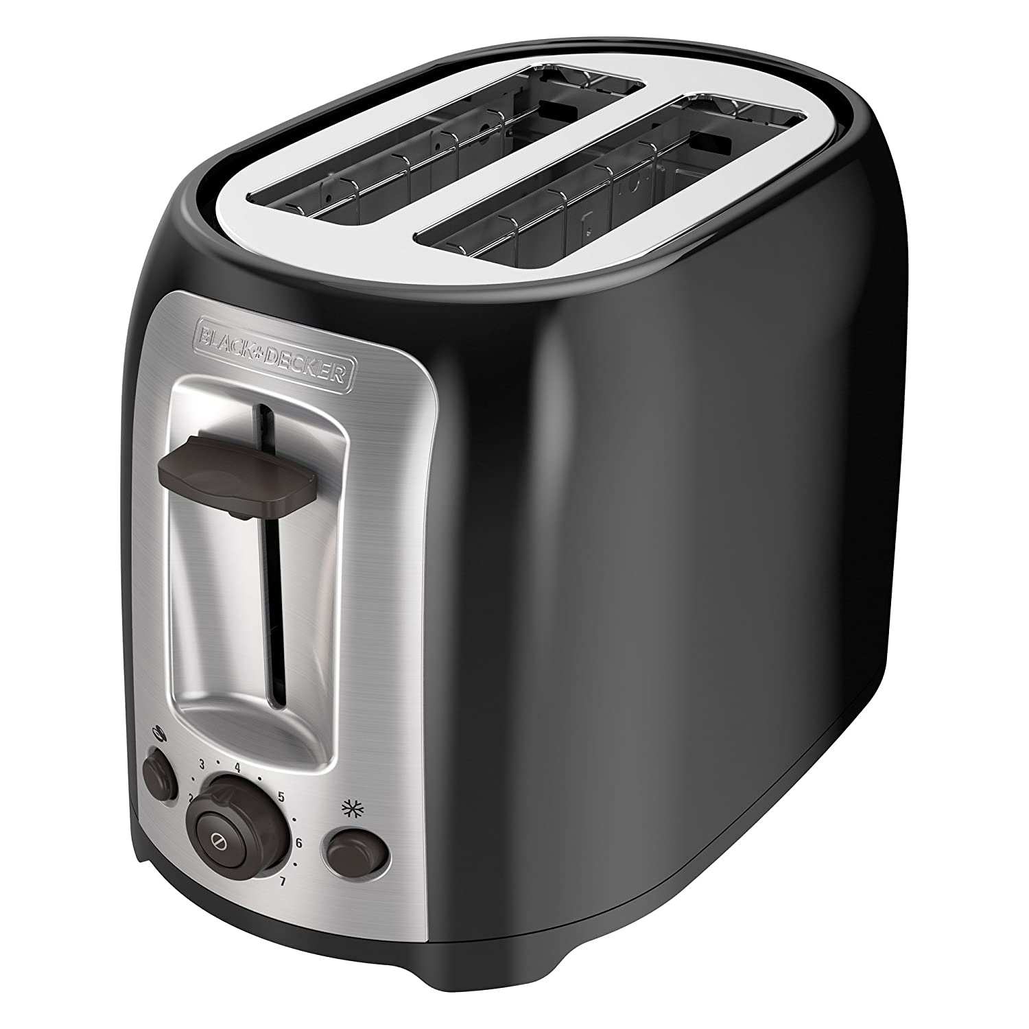 BLACK+DECKER 2-Slice Bagel Toaster, Black