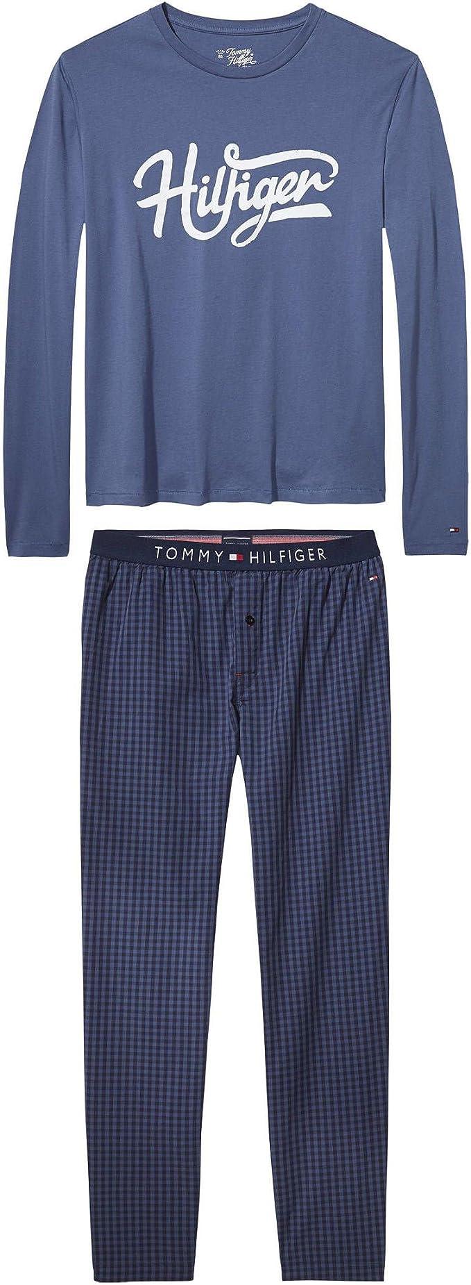 Tommy Hilfiger Flag Set Gingham LS Pijama para Hombre ...
