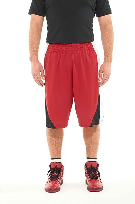Jordan Baloncesto de la Fortuna Corto, XL, Rojo, Blanco ...