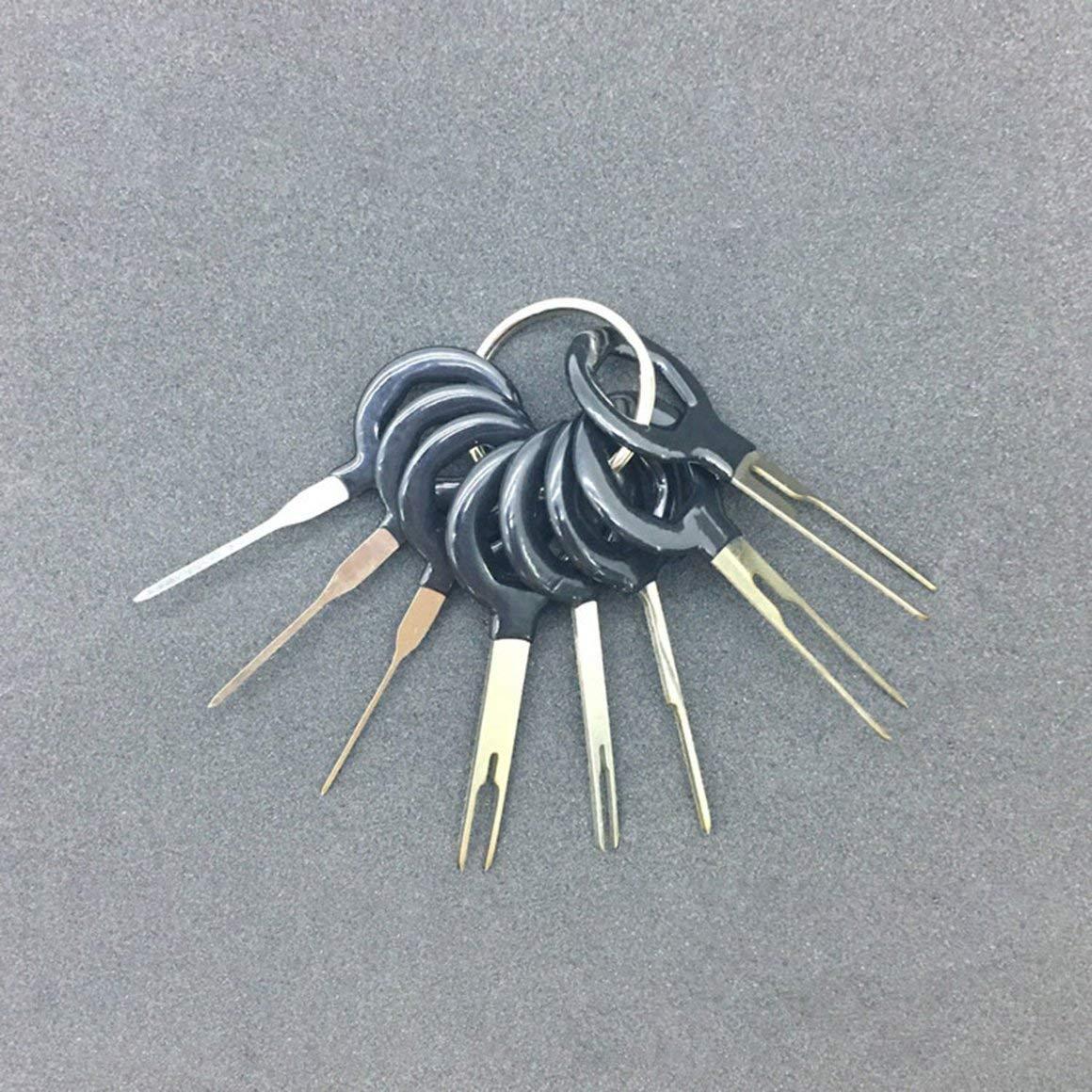 11pcs // set Funnyrunstore Car Terminal Removal Tool Kit Arn/és Cable Crimp Connector Extractor Puller Release Pin Herramientas de Reparaci/ón Profesional