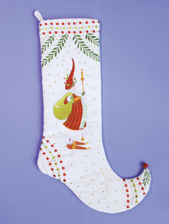 29'' Patience Brewster Krinkles Nicholas Santa Claus Decorative Christmas Stocking