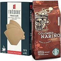 Starbucks Colombia Narino 250 Gr Öğütülmüş Filtre Kahve + Trescol Kahve Filtresi 4 numara (40'lı Paket)