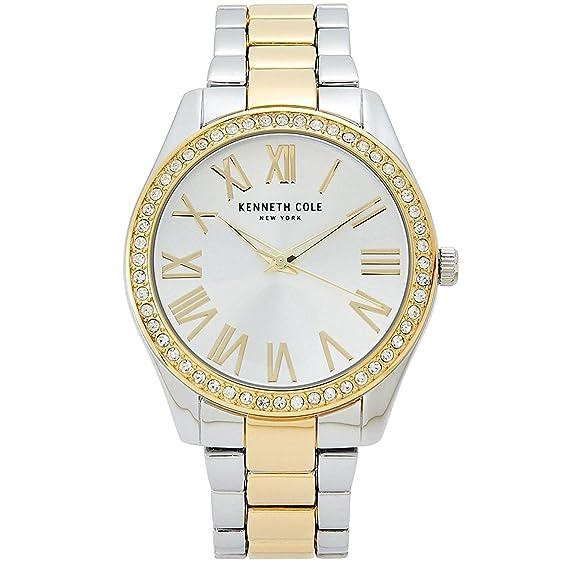 Kenneth Cole New York de la mujer acero analógico reloj pulsera de dos tonos kcc0184004