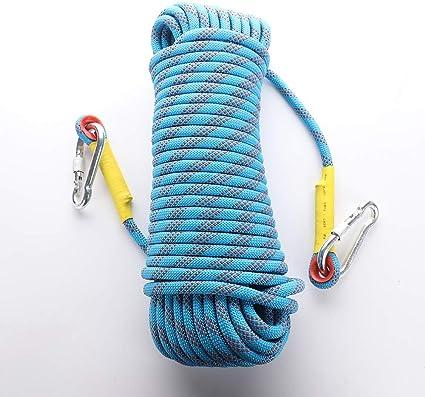 Warooma Cuerda de seguridad para escalada en roca al aire libre, 10 mm, accesorios para equipo de escalada de montaña, cuerda de rescate de incendios, ...
