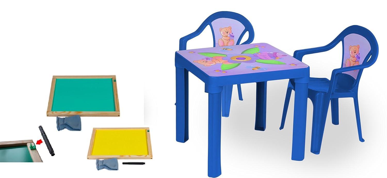 woodienchen - Niños Mobiliario de jardín mesa sillas nevera Set ...
