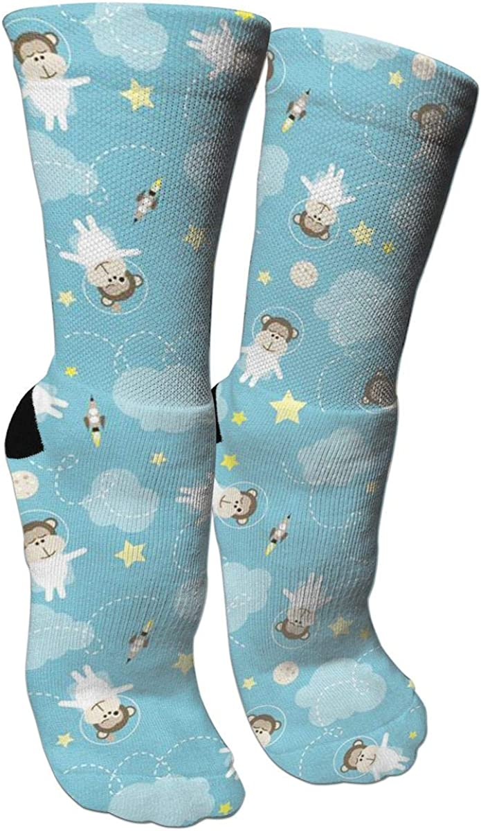 Monkey Astronaut Crazy Socks Casual Socks Funny For Sports Boot Hiking Running Etc.