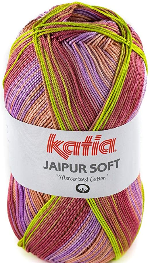 Lanas Katia Jaipur Soft Ovillo de Color Lila Cod. 107: Amazon.es: Hogar