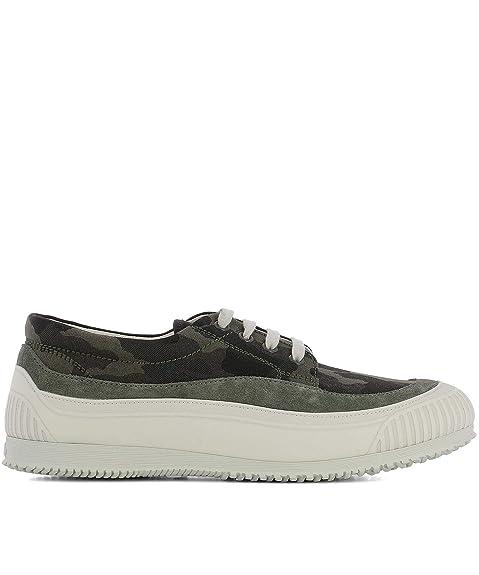 Hogan Hombre HXM2580AF90ITJ0QC3 Verde Tela Zapatillas: Amazon.es: Zapatos y complementos