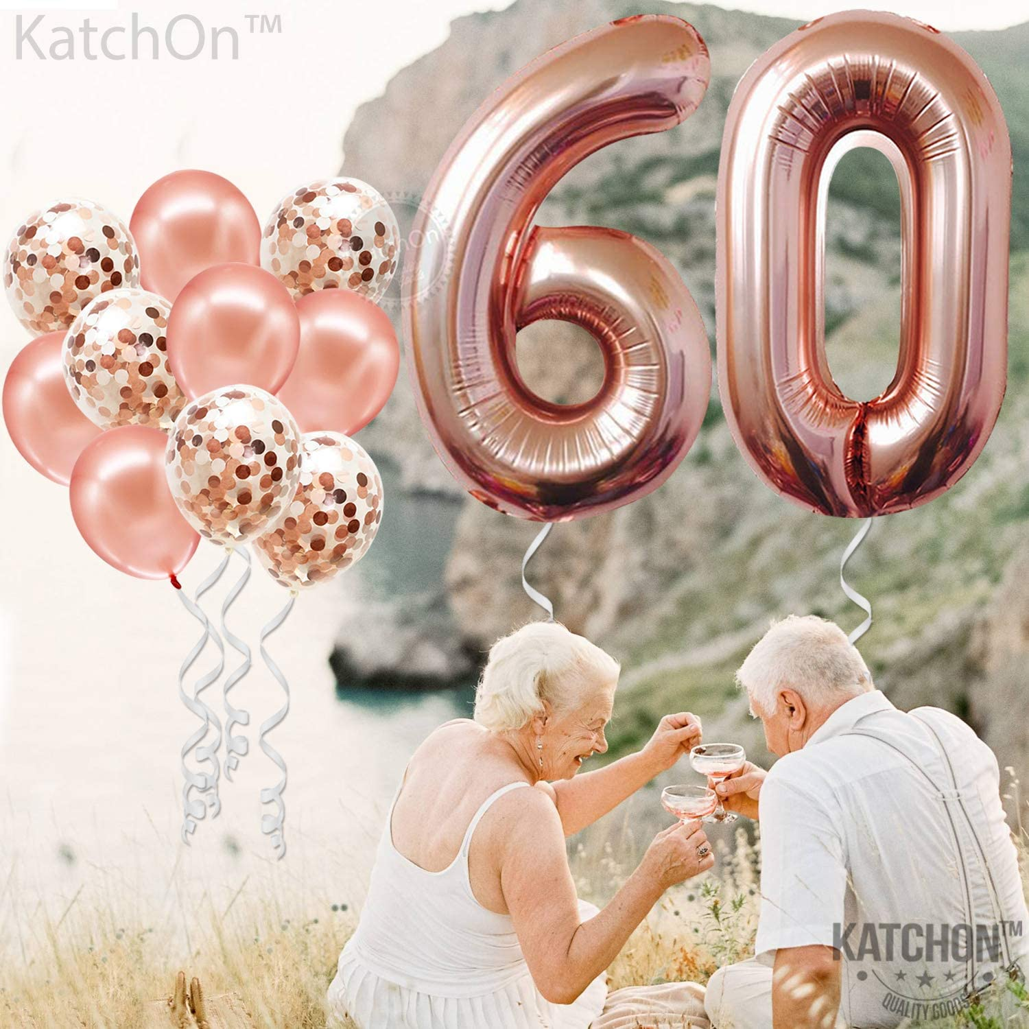 86 cm Rose Gold Foil Balloon Number Helium Balloons Balloon Numbers Balloon 0-9 ca