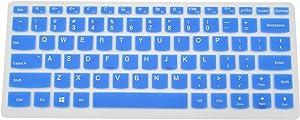 "PcProfessional Blue Ultra Thin Silicone Gel Keyboard Cover for Lenovo Yoga 720 13 710 14 14"" Yoga 710 15 Yoga 720 15 15.6"" Flex 4 14"" Flex 5 14"" Yoga 910 14"" Laptop (Please Compare Layout and Model)"