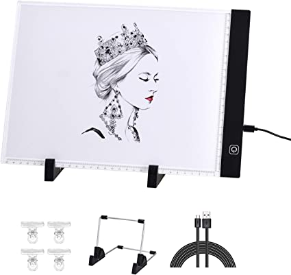 Amazon Com 3 In 1 Light Box For Tracing With Detachable Stand Clips Light Up Tracing Pad For Diamond Painting Water Color Paper Slim Fabric