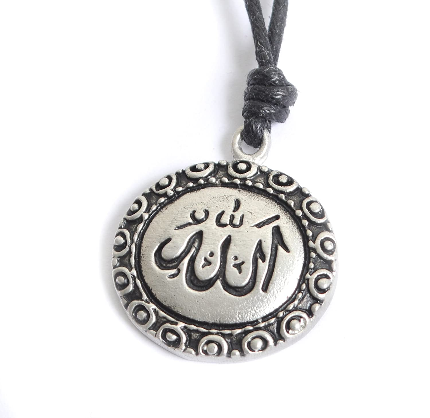 Amazon islam allah muslim quran silver pewter charm necklace amazon islam allah muslim quran silver pewter charm necklace pendant jewelry vietguild jewelry aloadofball Images