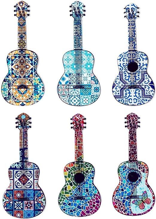 Home Gadgets Iman Nevera x6 Guitarra 13 cm: Amazon.es: Hogar