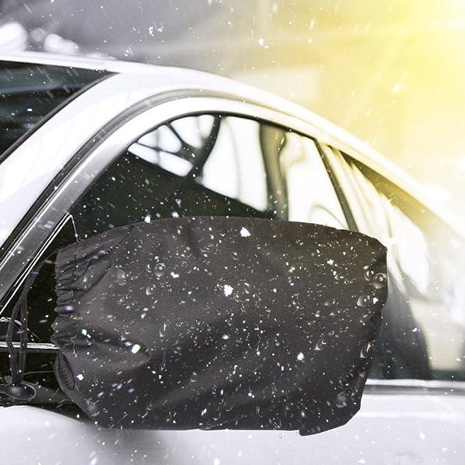 Spiegel Gro/ß,Autospiegel Schneeabdeckung,1 Para Universal Wasserdichte Schneeschutz Auto Side R/ückspiegel Schutzh/ülle f/ür Lkw Fahrzeug Automobil Exterior Zubeh/ör Schwarz