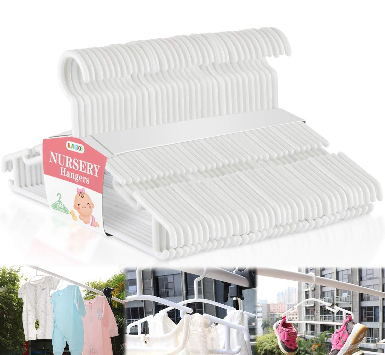 Homewit 36-teilig Babykleiderbügel, Kinder Kleiderbügel Kunststoff Kleiderständes für Baby, Kleinkinder, Kleinkinderkleidung, Kleiderschrank, 27cm…