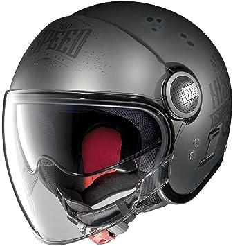 Nolan Casco Jet N21 Visor MotoGP Legends Scratched Flat Asphalt Black L negro