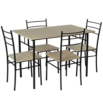 modern dining room table and 4 chairs set breakfast tables bistro rh amazon co uk